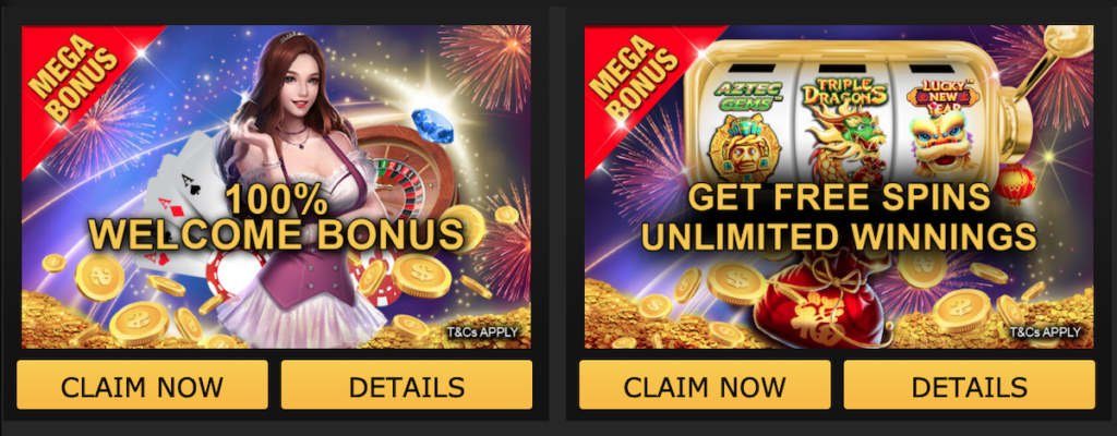 empire777 welcome bonus